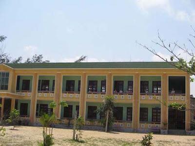 Tên công trình: Trường Tiểu Học.Địa chỉ: Xã Duy Xuyên, tỉnh Quảng Nam (onduline màu xanh)