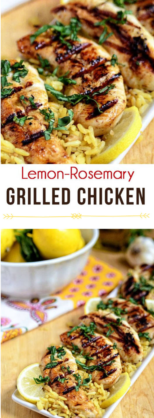 LEMON ROSEMARY GRILLED CHICKEN #chicken #dinner