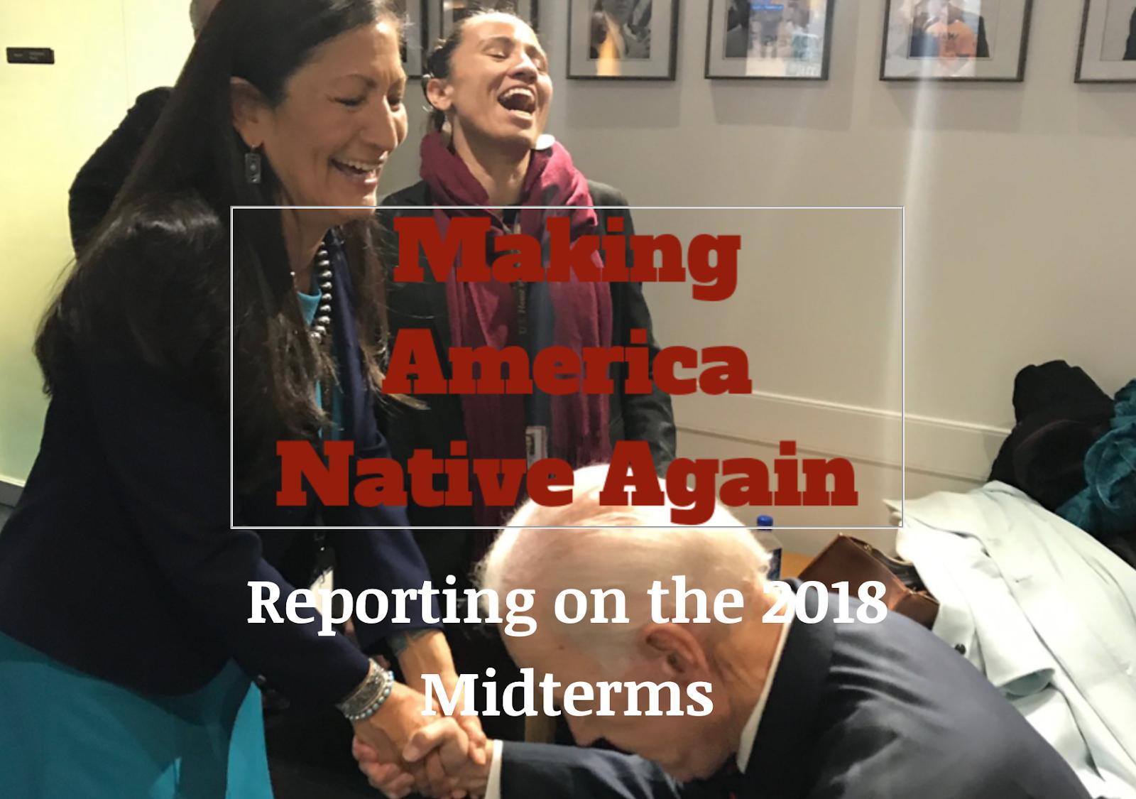 My First Newsletter 'Make America Native Again' or Happy MANA!