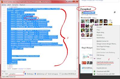 Cara Memasang Widget Pengikut Blog dengan Mode HTML