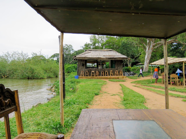 Bar on the shores of Lake Victoria in Uganda