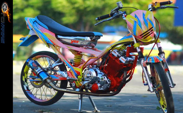 modifikasi satria fu thailook drag