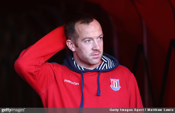 Charlie Adam arrives prior to a Stoke City match