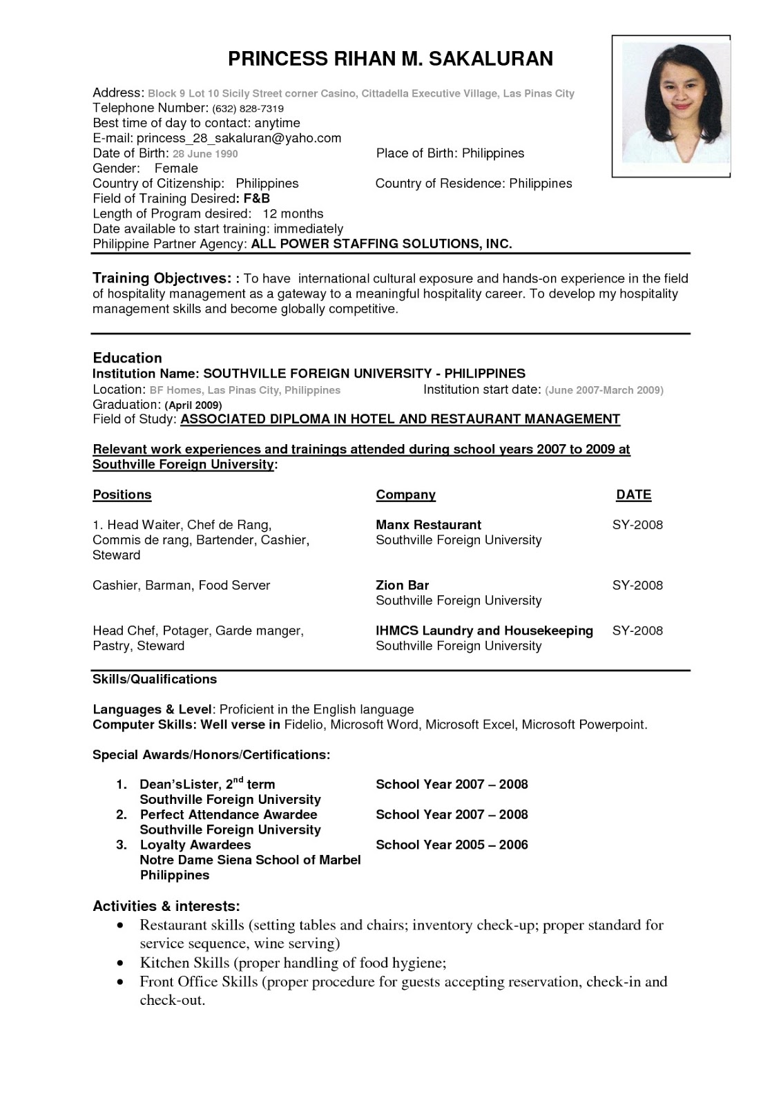 business resume template effective ways to use them - Free Business Resume Template