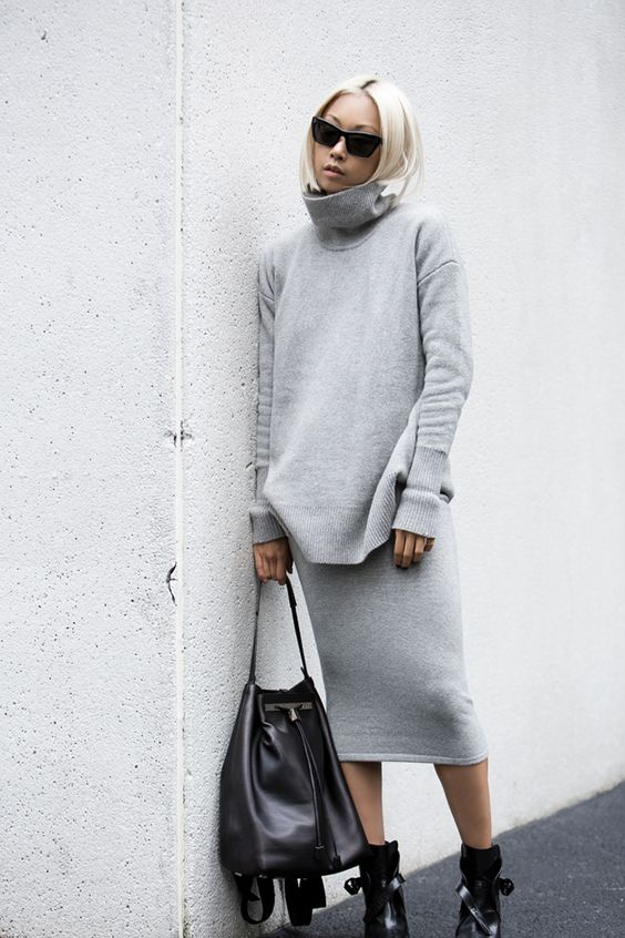 two piece, grey, fashion blogger, outfit, ootd