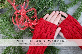 Pine Tree Wrist Warmers Pattern