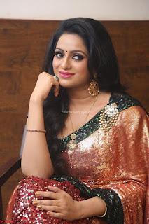 Udaya Bhanu lookssizzling in a Saree Choli at Gautam Nanda music launchi ~ Exclusive Celebrities Galleries 007.JPG
