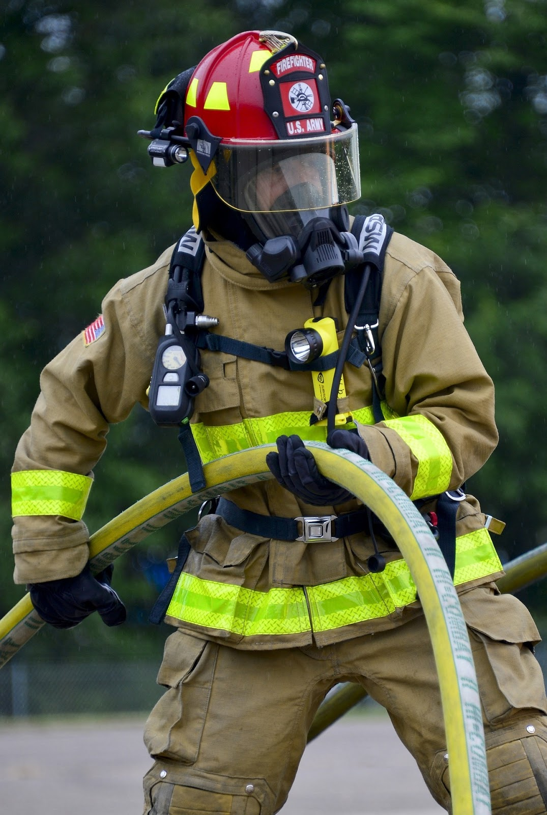 A Demonstration Of Fire-fighting Equipment Editorial Image ...  |Fire Figher Demonstration