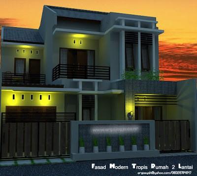 fasad rumah minimalis 1 lantai 3