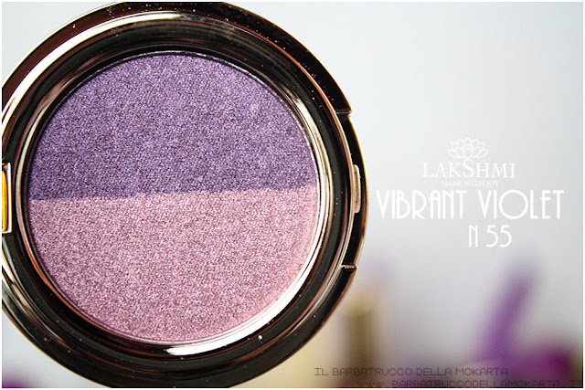 vibrant violet  55 eyeshadow ombretti review  lakshmi makeup vegan ecobio
