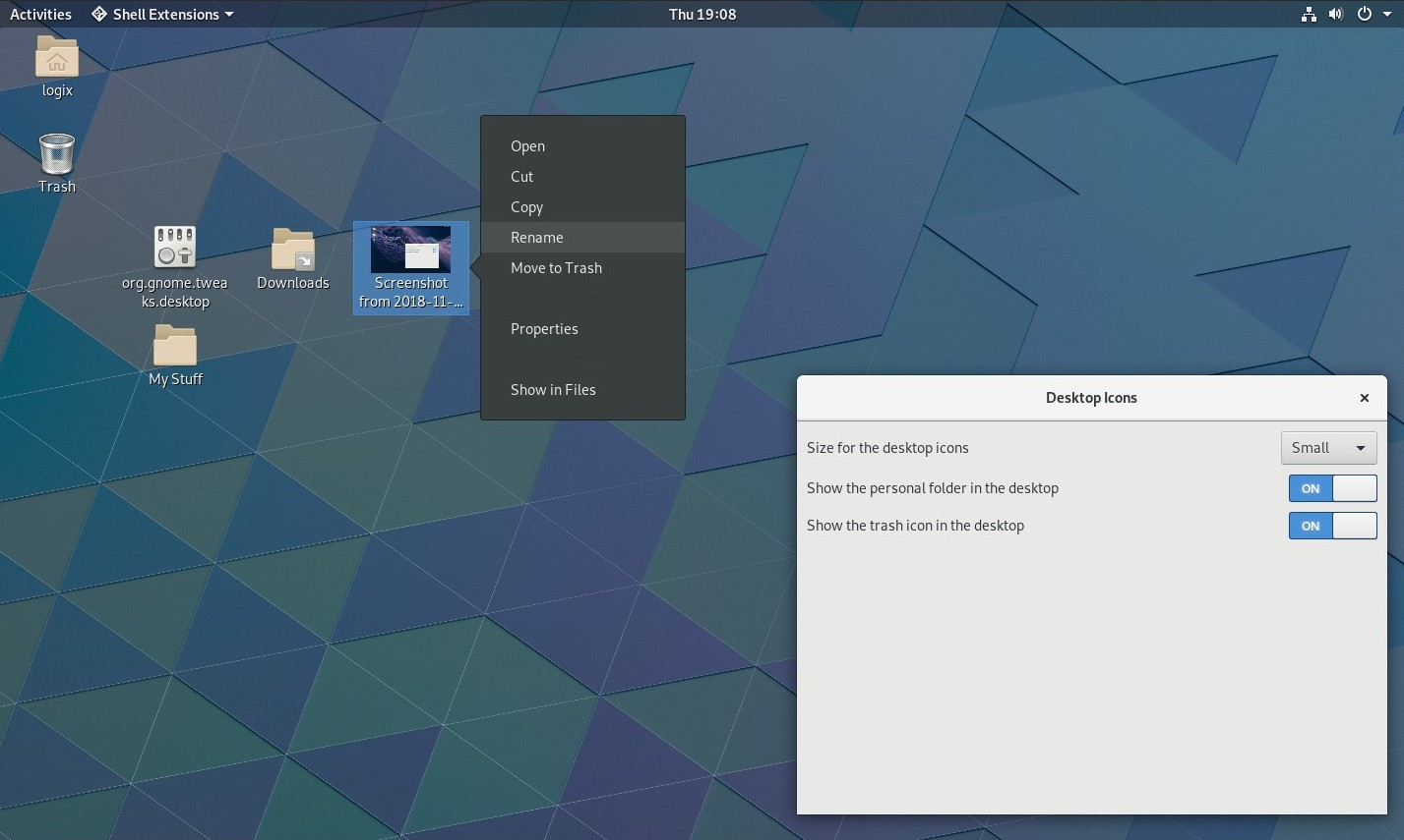 Desktop Icons Gnome Shell Extension 1 0 Release Candidate Available