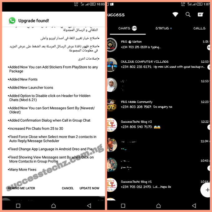 GB WhatsApp V6.70 Released With New Features - Click Here To Download Now