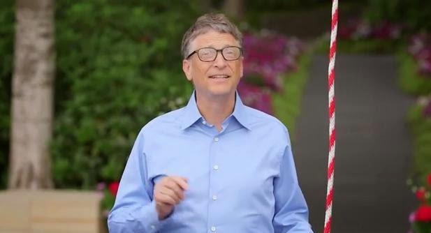 Bill Gates Takes the Ice Bucket Challenge for Lou Gehrig's Disease