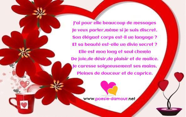 Image romantique avec poème d'amour