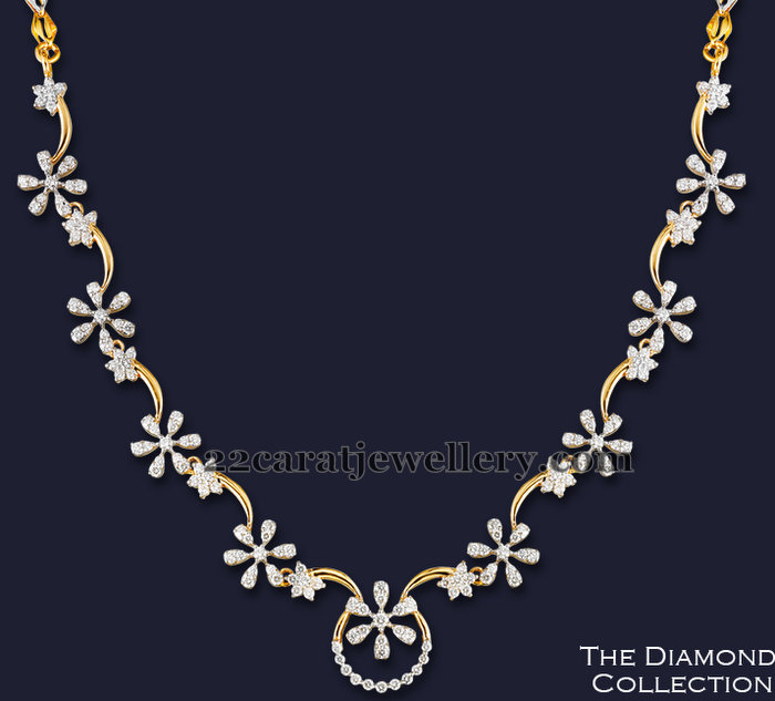 Simple And Unique Diamond Set Jewellery Designs