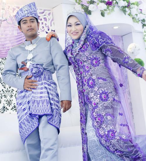 baju pengantin modern warna ungu