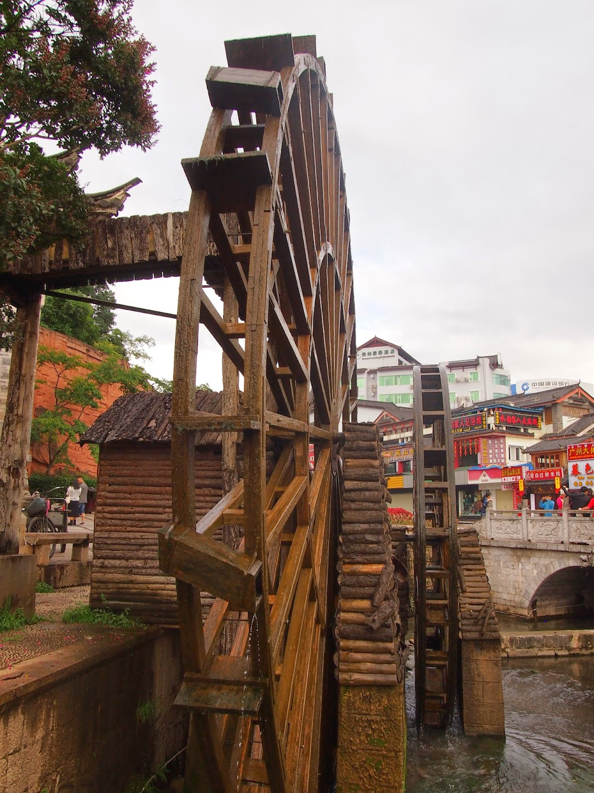 The Lijiang old town water wheels