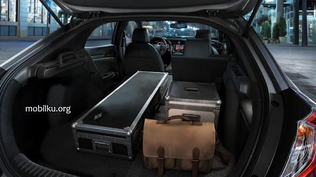 bagasi, civic, hatchback, barang, kargo, kursi, penumpang, interior