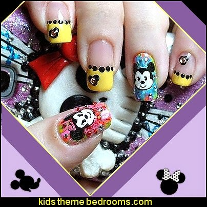 Cartoon Mouse mickey mouse 3D Watermark Nail Stickers Decals Foil Nail Art Decorations