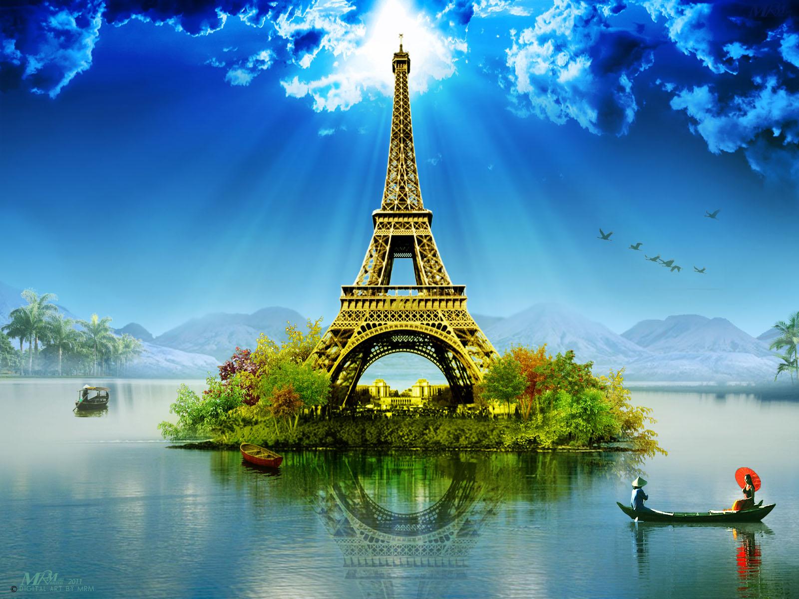 3d Wallpaper Custom Photo Hd Art Photography City: PZ C: Eiffel Tower Wallpaper