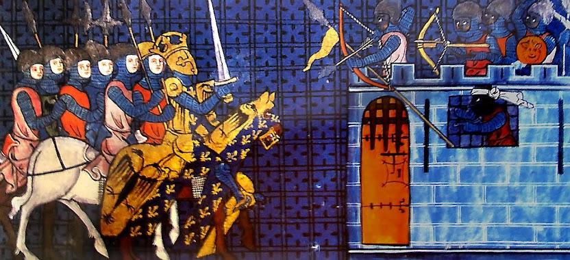 Beato Carlos Magno em guerra contra os mouros