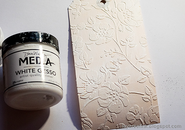 Layers of ink - Multi-Color Embossing Tutorial by Anna-Karin Evaldsson. Paint with gesso.