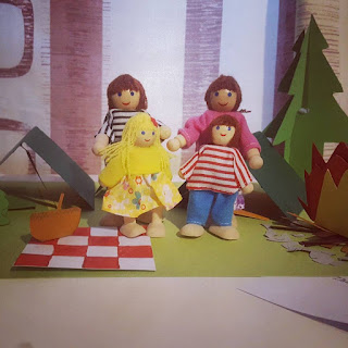 Reunited Dolls at the Paper Craft Camp Site