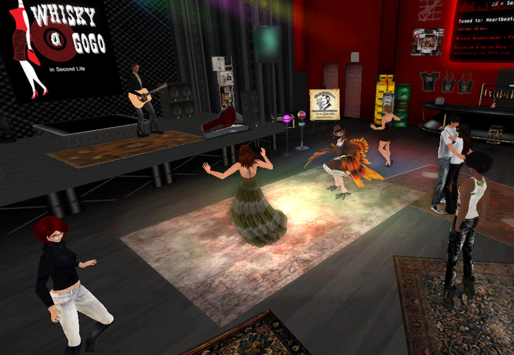 Zak Claxton: Whisky A Go Go in Second Life (11 20 12)