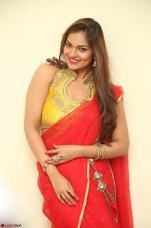 Actress Ashwini in Golden choli Red saree Spicy Pics ~  116.JPG
