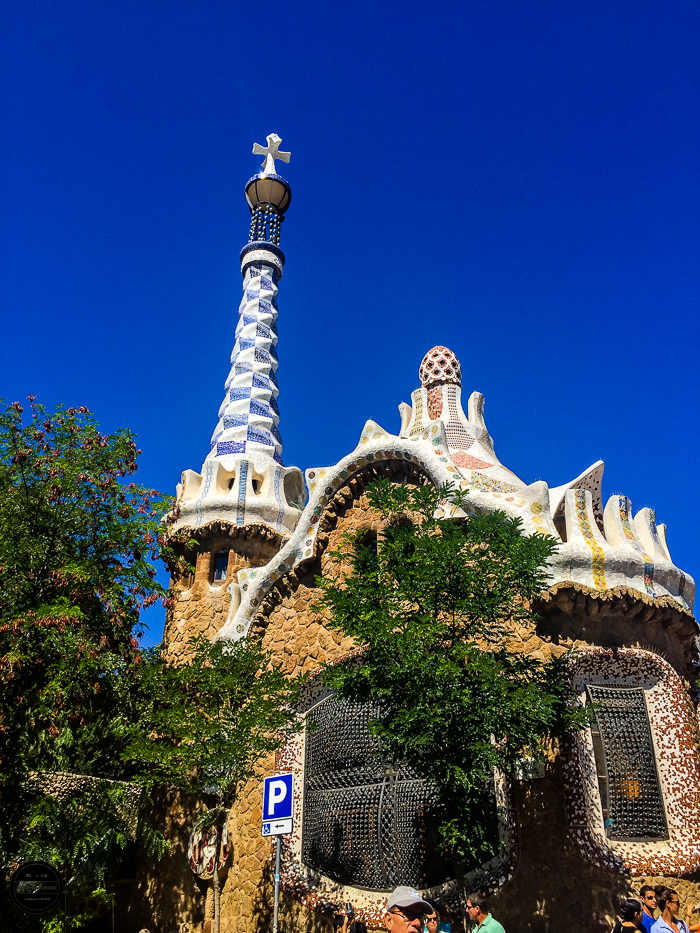 Park Guell Gaudi popular park in Barcelona.