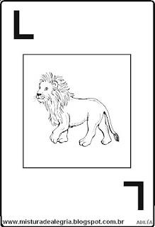 Baralho alfabético letra L