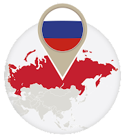 Russian flag and map