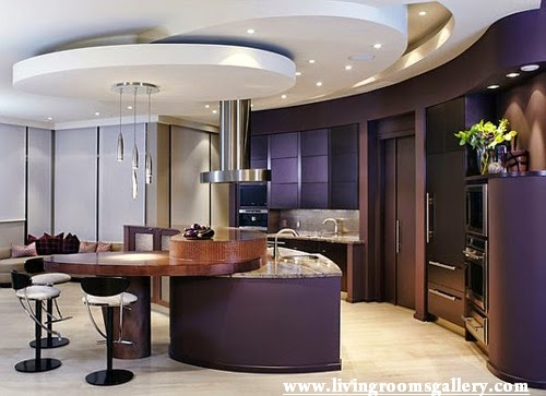 Stretch modern False Ceiling Designs For Kitchen
