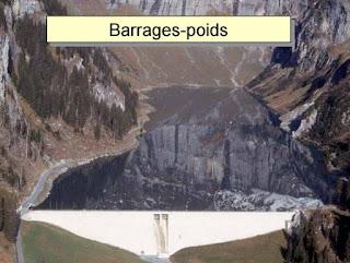 barrage en béton barrage poids