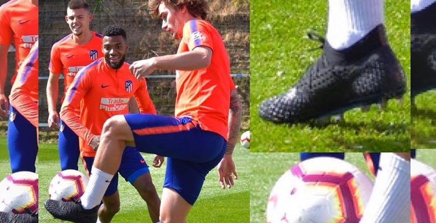 c6eb80779 Griezmann and KP Boateng Train In Blackout Next-Gen Puma Future Netfit 4.1  2019-2020 Boots