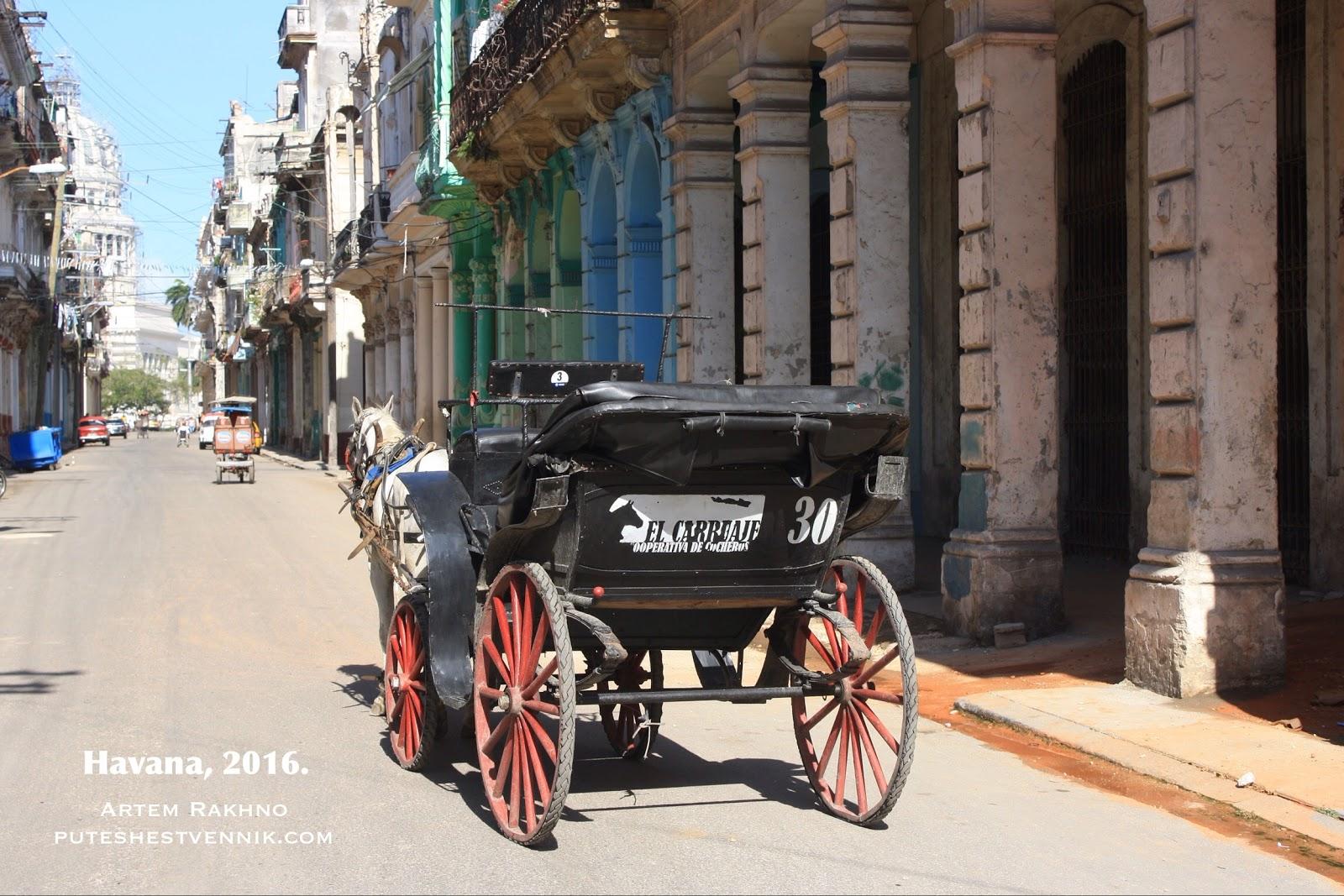 Карета с лошадью в Гаване