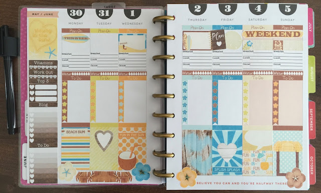 Beach Bum Sampler used in the Happy Planner on myplannerenvy.com