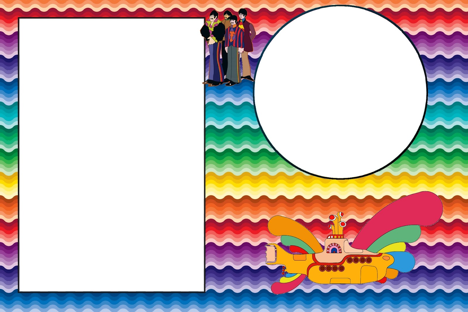 Beatles Yellow Submarine Free Printable Invitations