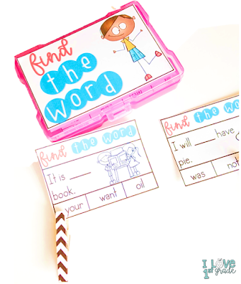 sight word instruction, sight word centers, sight words first grade