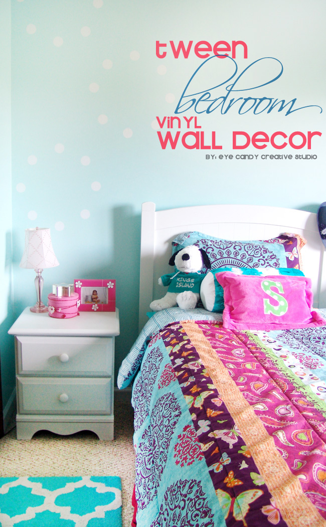 wallternatives, tween bedroom decor, girls bedroom makeover, aqua