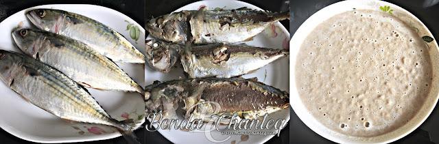 Ikan yang direbus dan dikisar