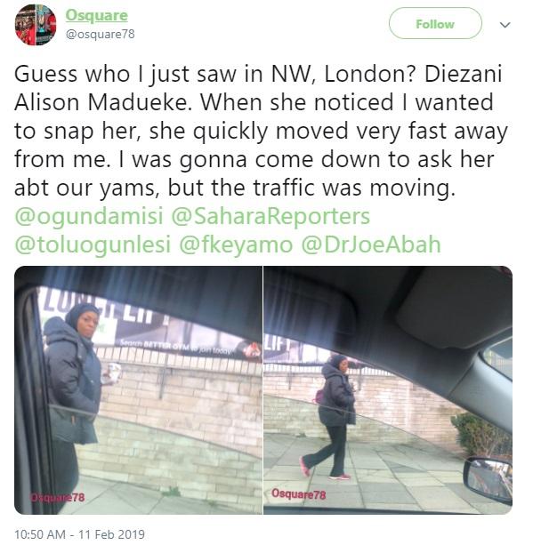 Nigerian man narrates his encounter with Diezani Alison Madueke in the U.K
