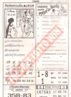 Thai Lottery First Paper Magazines For sixteen-01-2019 | Thailand Lottery Outcome As we utter time