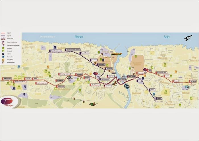 Plan Tramway Rabat-Salé