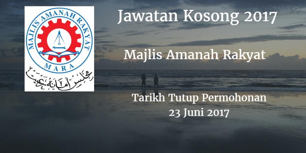 Jawatan Kosong MARA 23 Juni 2017