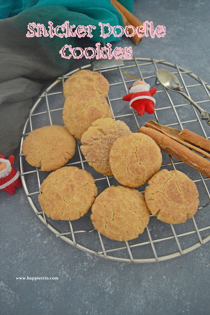 Snicker Doodle Cookies Recipe | Cinnamon Sugar Cookies