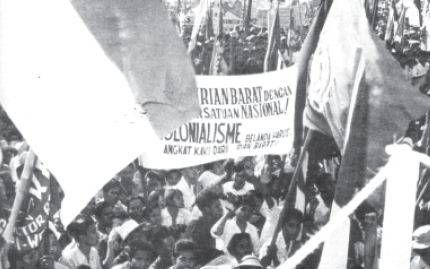 Rapat umum di Jakarta pada tanggal 18 November 1957 untuk mendukung pembebasan Irian Barat.