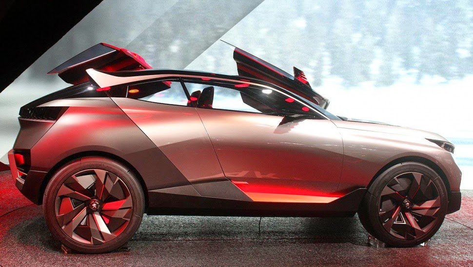 Left Side View Of Peugeot Quartz Concept Picture From Http Bit Ly 1s9lwfv