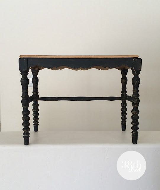 black chair, black bench, refinished bench, piano bench, jenny lind, spindle legs, vintage chair, furniture makeover, diy