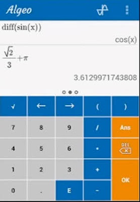download aplikasi kalkulator terbaik Algeo Graphing Calculator